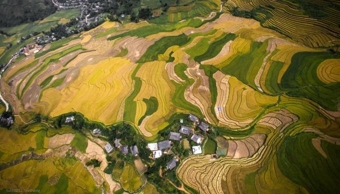 Tu Le terraced fields from height